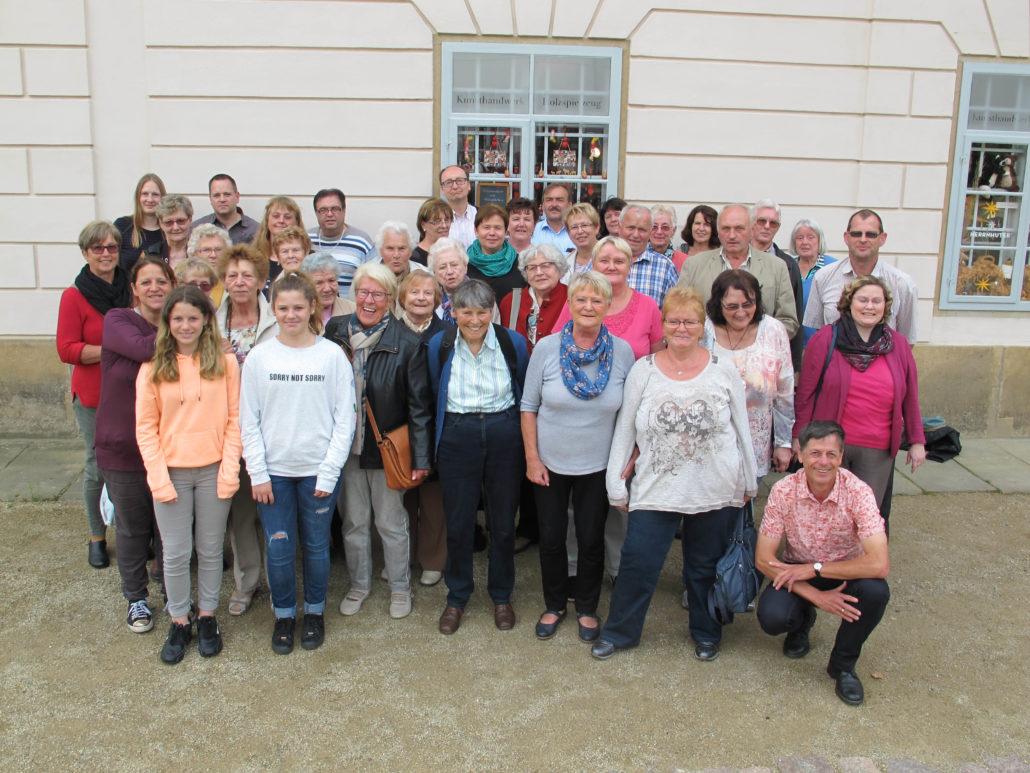 Gruppenfoto in Schloss Pillnitz