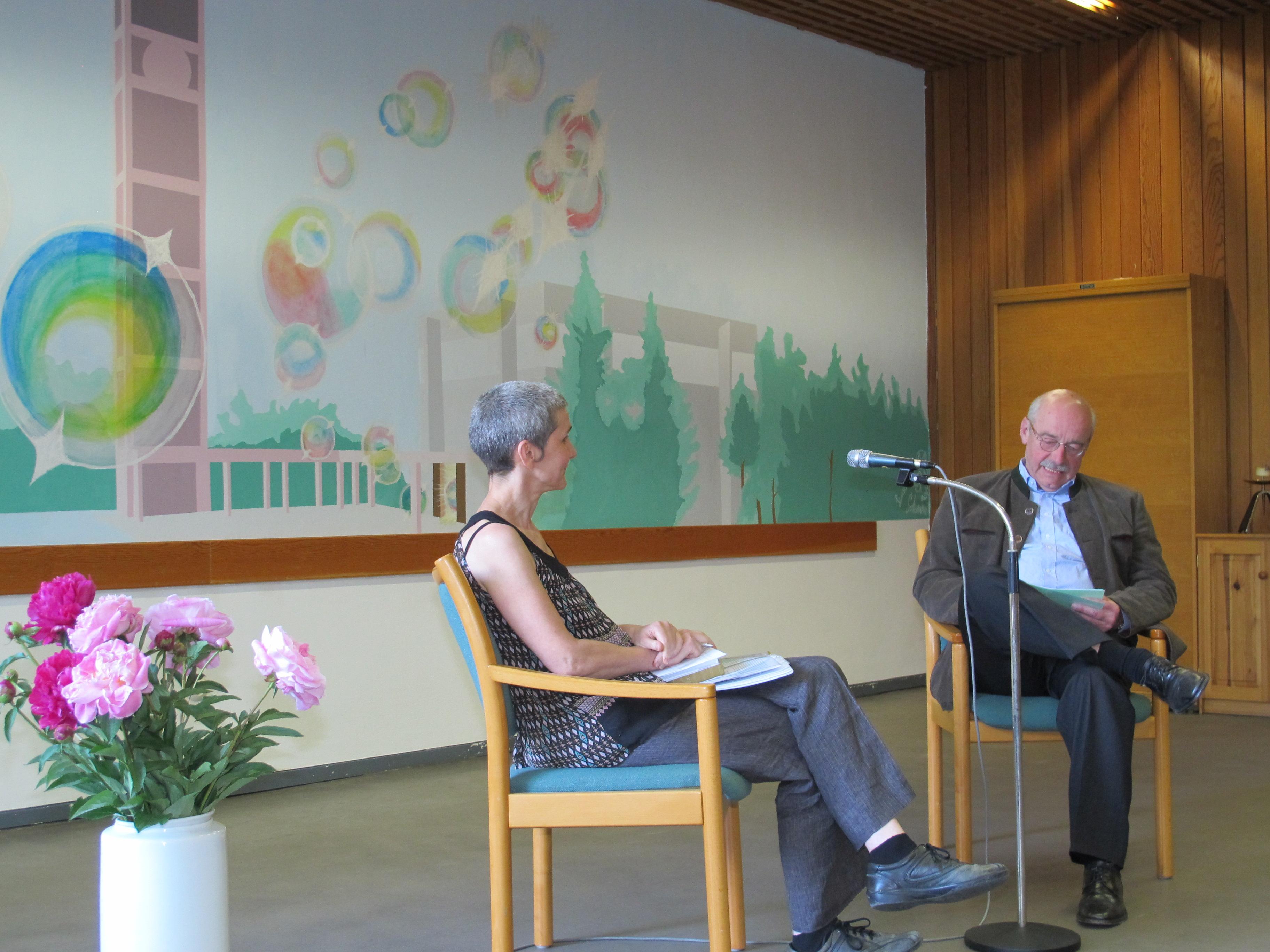 Künstlergespräch, Siedersberger und Hornfeck