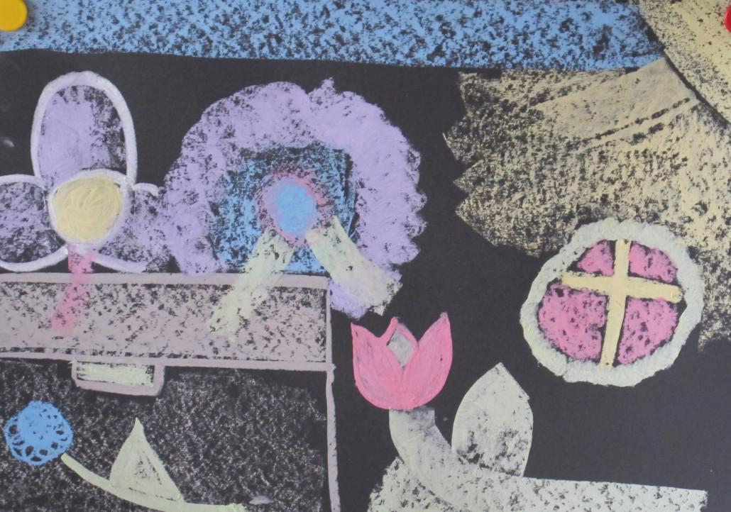 Schülerbild Grabkränze
